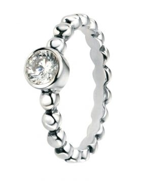 Ball Shank Cubic Zirconia Ring