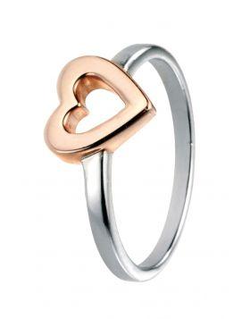 Rose Gold Open Heart Ring
