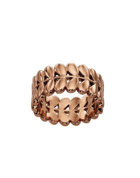 Rose Gold Plated Leaf Ring