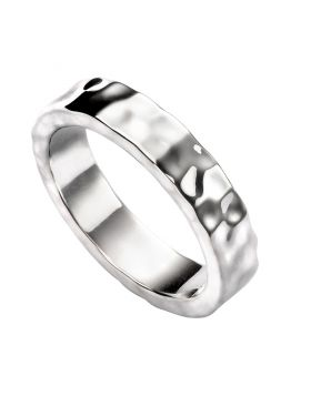 R3477 Hammered Plain Band RING