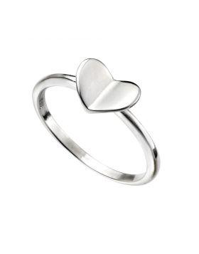 R3521 Folded Heart RING