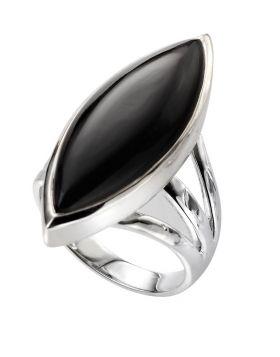 R3522B BLACK ONYX Marquise RING