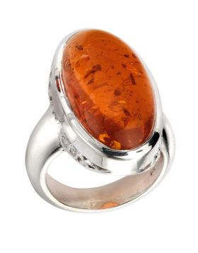 R3531R AMBER Large Oval RING