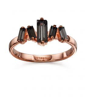 Black Diamond Baquette Ring