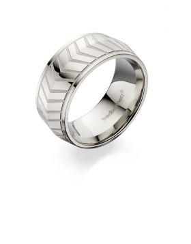 Fred Bennett Chevron Pattern Band Ring