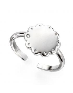Diamond Adjustable Scallop Edge Ring