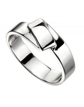 Flat folded ring