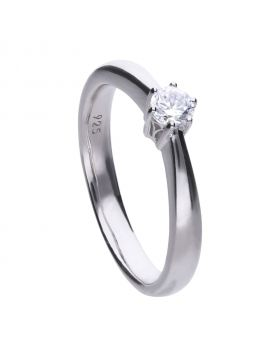 Solitaire 0.25ct Claw Set Ring