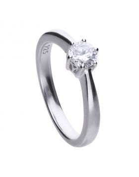 Solitaire 0.5ct Claw Set Ring