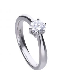 Solitaire 0.75ct Claw Set Ring