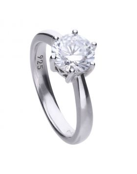 Solitaire 2ct Claw Set Ring