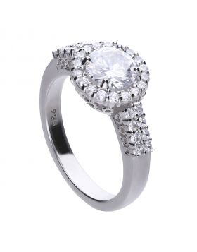 Classic 2.34 ct pave set ring with Diamonfire cubic zirconia