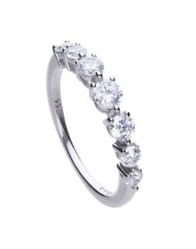 Classic 1.02 ct half band claw set ring with Diamonfire cubic zirconia