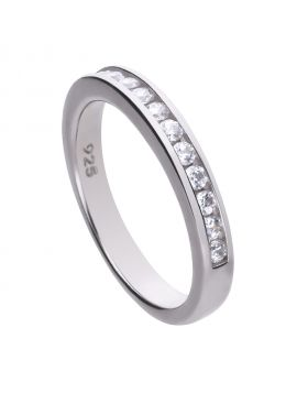 0.36 ct band ring channel set with Diamonfire cubic zirconia