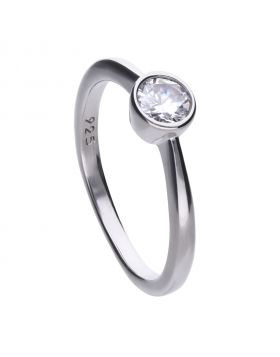 Solitaire Bezel Set 0.5ct Ring