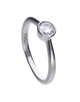 Solitaire Bezel Set 0.5ct Ring