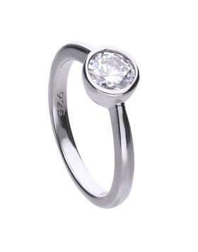 Solitaire Bezel Set 1ct Ring