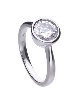 Solitaire Bezel Set 2ct Ring