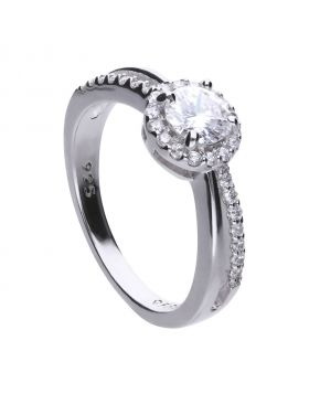 Round 1.01 ct split band ring with Diamonfire cubic zirconia
