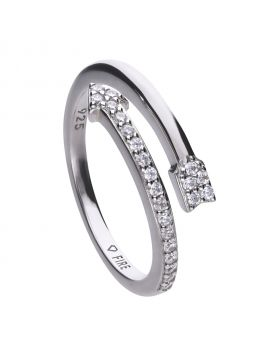 Open ended 0.23 ct arrow ring with Diamonfire cubic zirconia