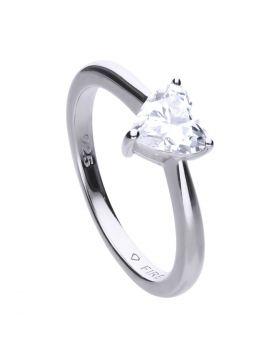 Small Heart Stone Ring