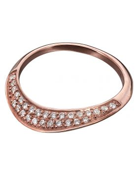 flat rose gold plated and CZ ring
