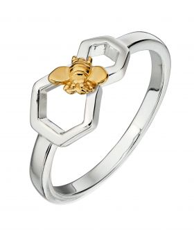 Bee and Honeycomb Mix Plate Ring