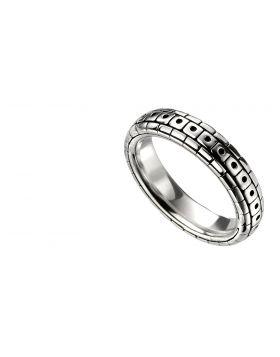 Men's Oxidised Pattern Ring