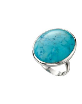 Large Oval Magnesite Ring