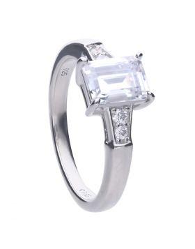 Emerald Cut Zirconia Ring (R3714)