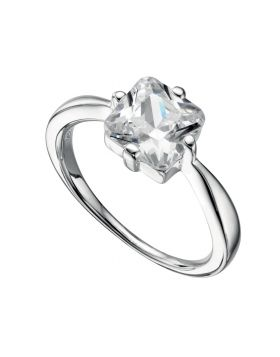R925C    Ring Square CZ Clear