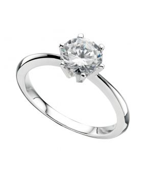 R926C    Ring Round CZ Clear