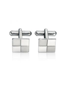 Stainless Steel Brushed & Polished Cufflink