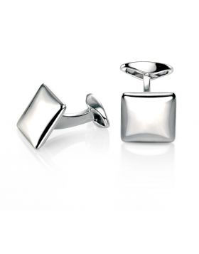 Square Cufflink With Rounded Profile