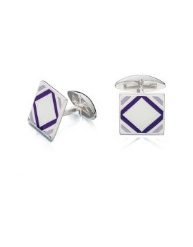 Purple Epoxy Square Cufflinks
