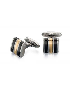 Black And Gold Pvd Cufflinks