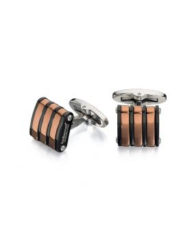 Black And Brown Pvd Cufflinks