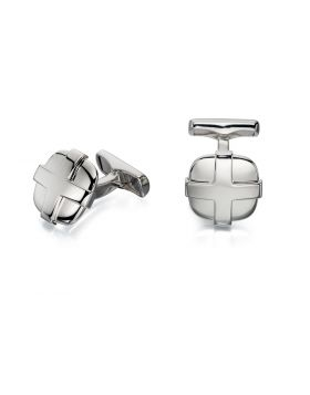 Cross Over Lay Cufflink