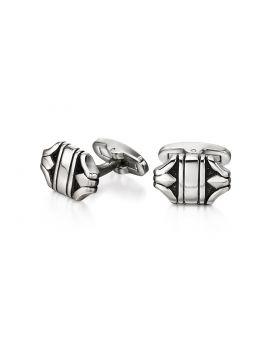 Stainless Steel Textured Cufflinks in Unusual Shape