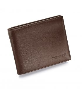 Chocolate Brown Leather Wallet and Gift Box