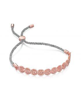 Rose Gold Dasiy Chain Adjustable Bracelet