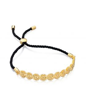 Yellow Gold Dasiy Chain Adjustable Bracelet