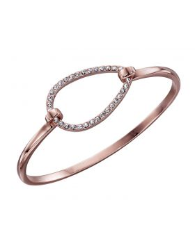 Rose Gold Tear Drop Clasp Bracelet