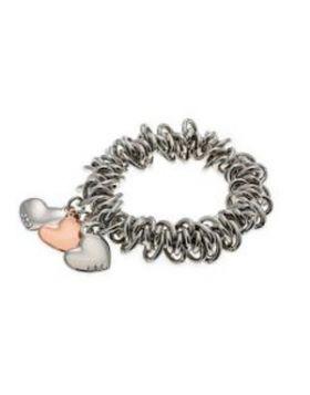 Triple Heart Charm Stretch Bracelet