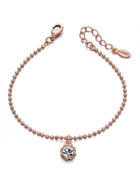 Flower Surround Rose Gold Bracelet