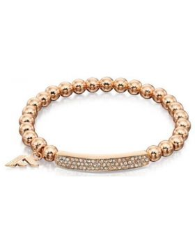 Rose Gold Bead Stretch Bracelet