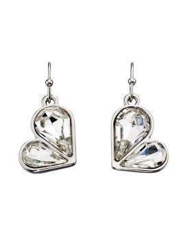Crystal Heart Drop Earring