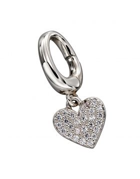 Pave Heart Charm (Y2631C)