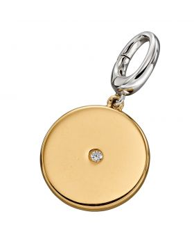 Large Gold Disc Charm (Y2637C)