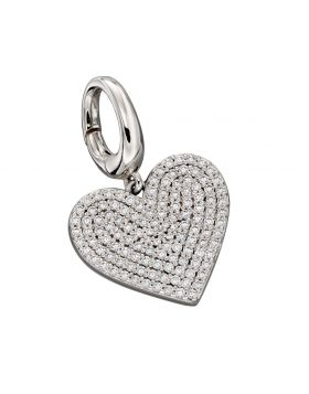 Large Pave Heart Charm (Y2640C)